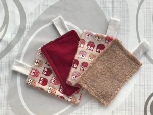Lot de 4 lingettes lavables